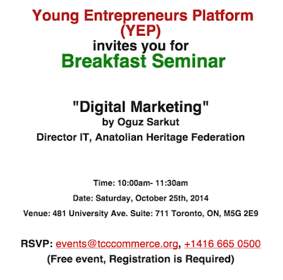 Breakfast Seminar Young Entrepreneur